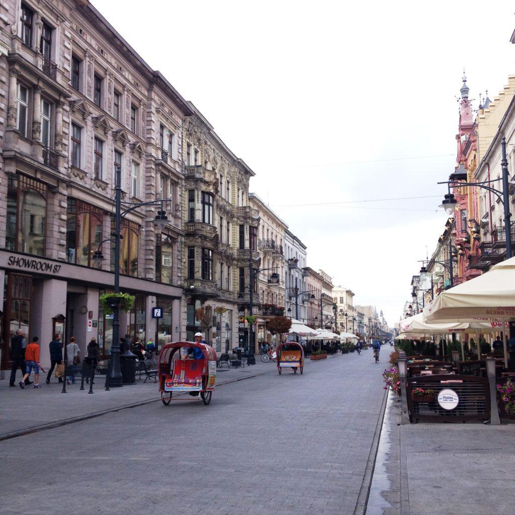 Ulica Piotrkowska street Lodz Poland