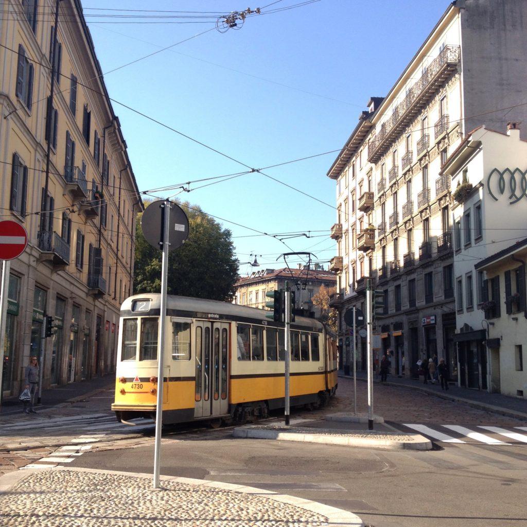 tram Milan Italy