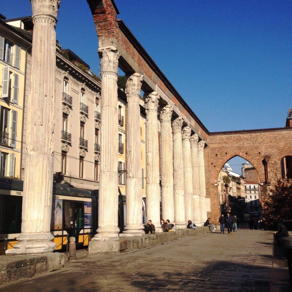 Colonne di San Lorenzo Milan Italy