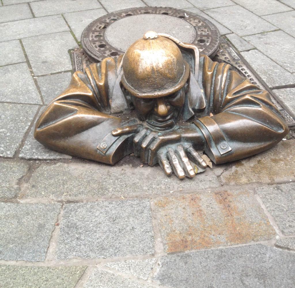 Bratislava Slovakia statue
