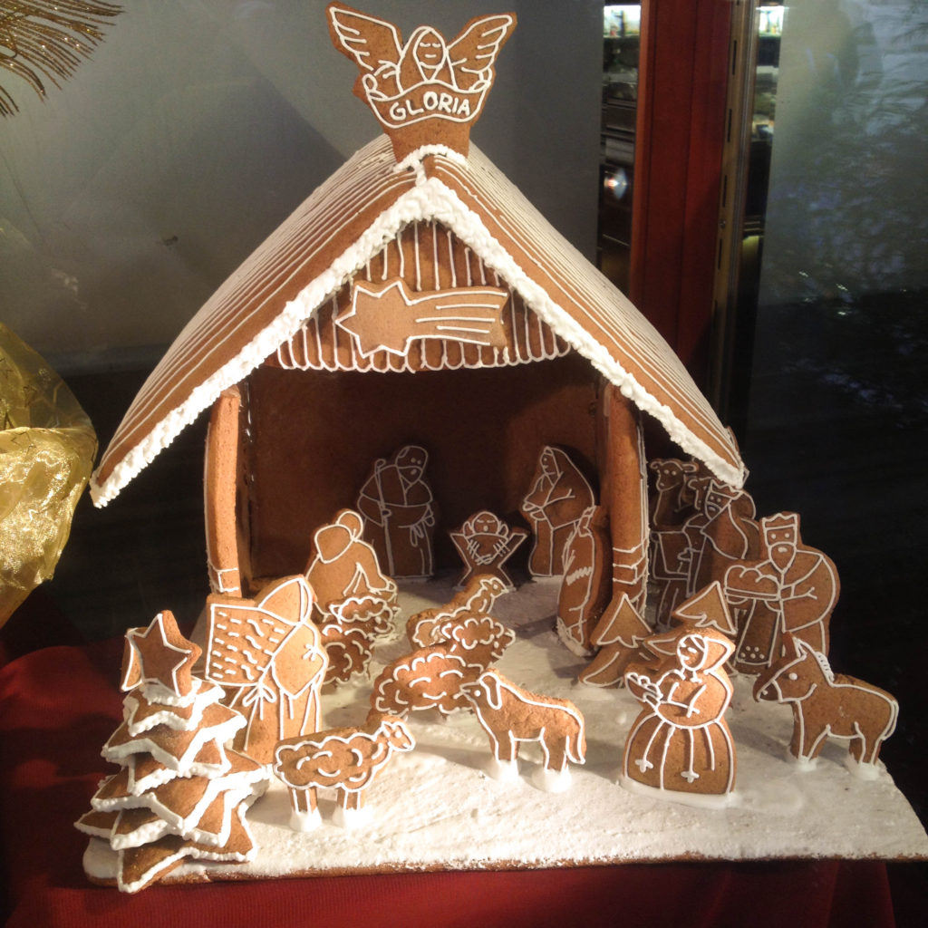 Bratislava Slovakia Christmas time nativity scene