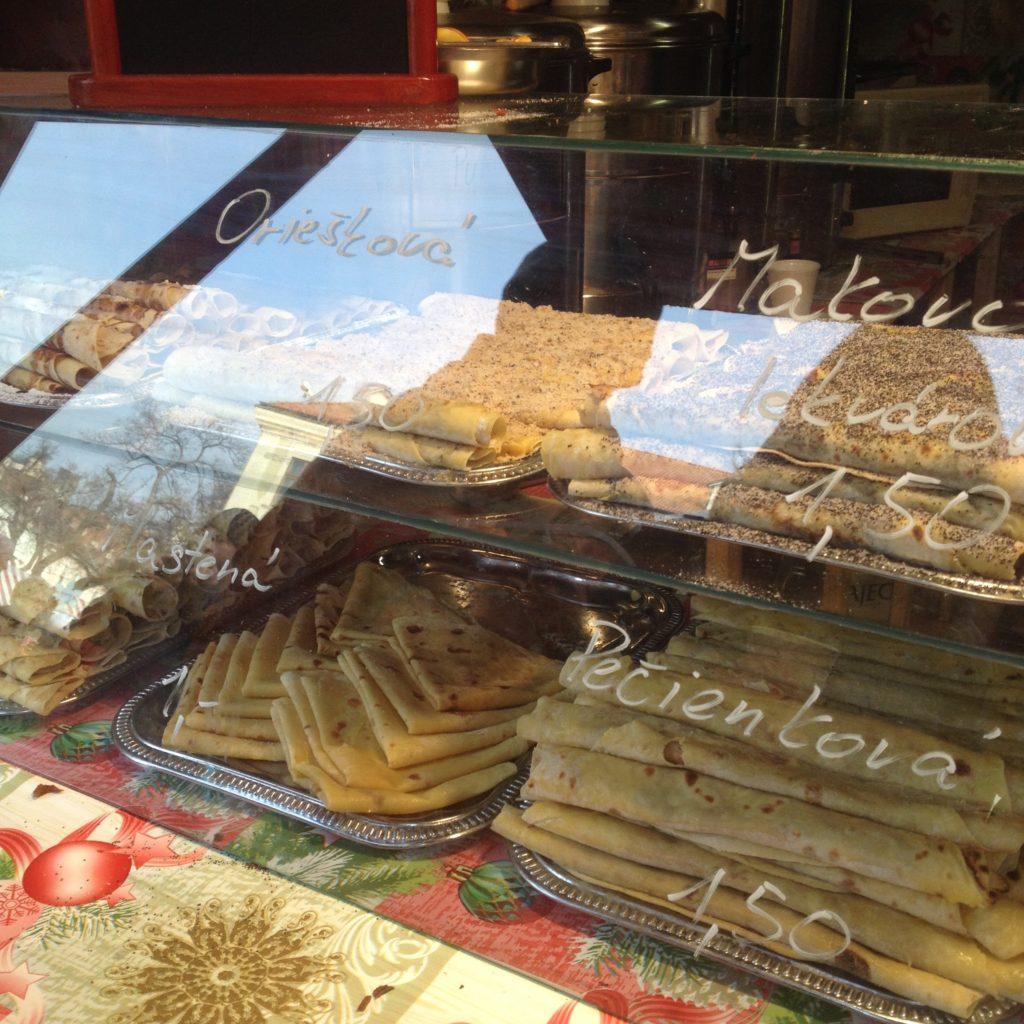Bratislava Slovakia Christmas time typicall sweets pancakes