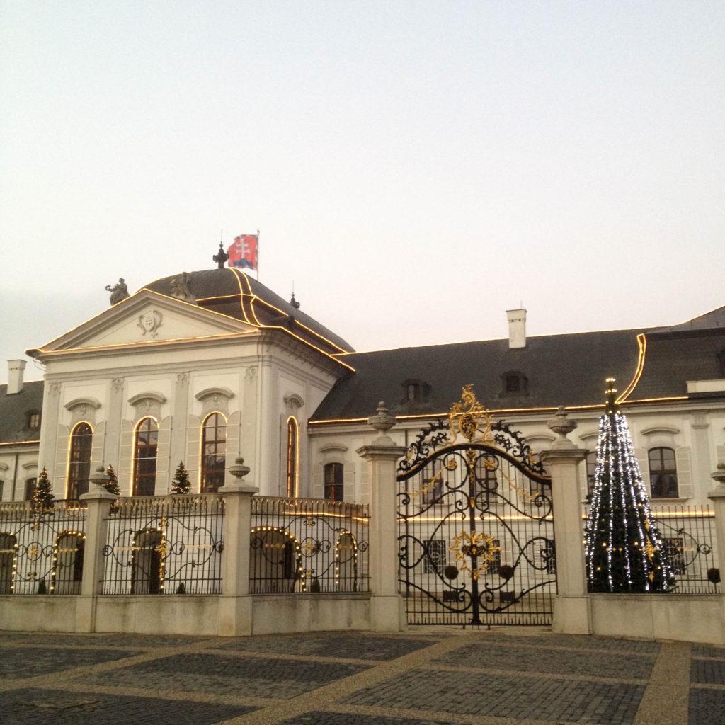 Bratislava Slovakia Christmas time Grassalkovich Palace