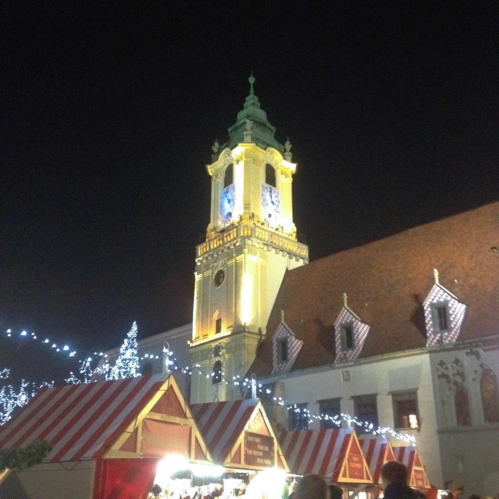 Bratislava Slovakia Christmas time Christmas stands
