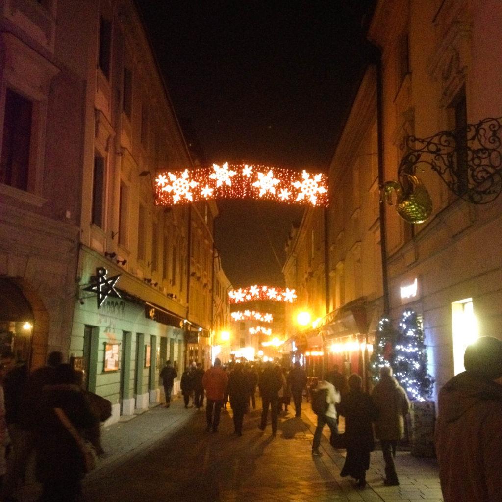Bratislava Slovakia Christmas time