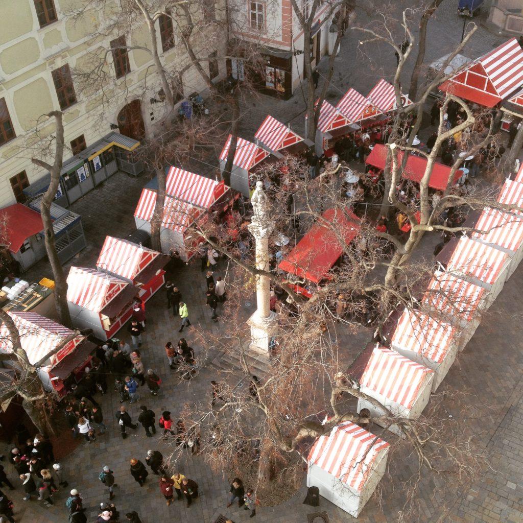 Bratislava Slovakia Christmas time Christmas market