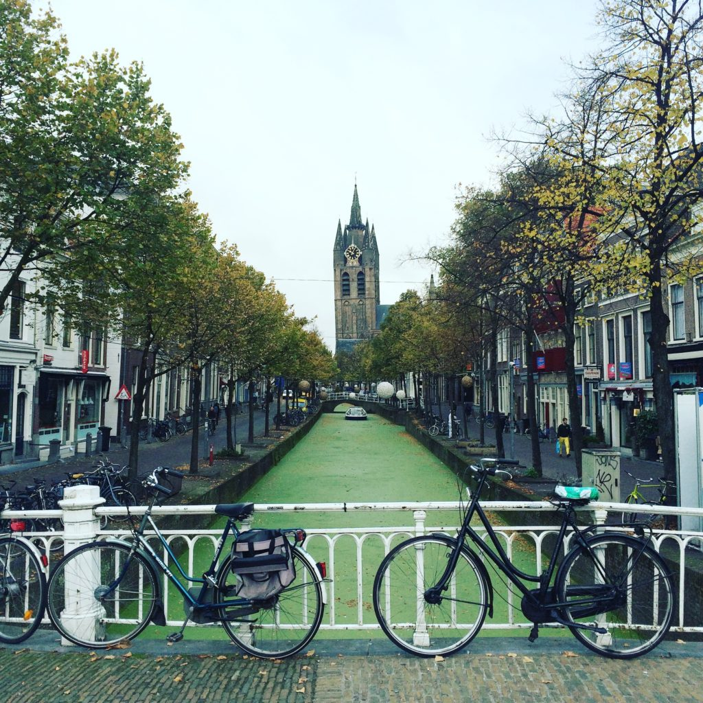 Delft the Netherlands the Oude Kerk church