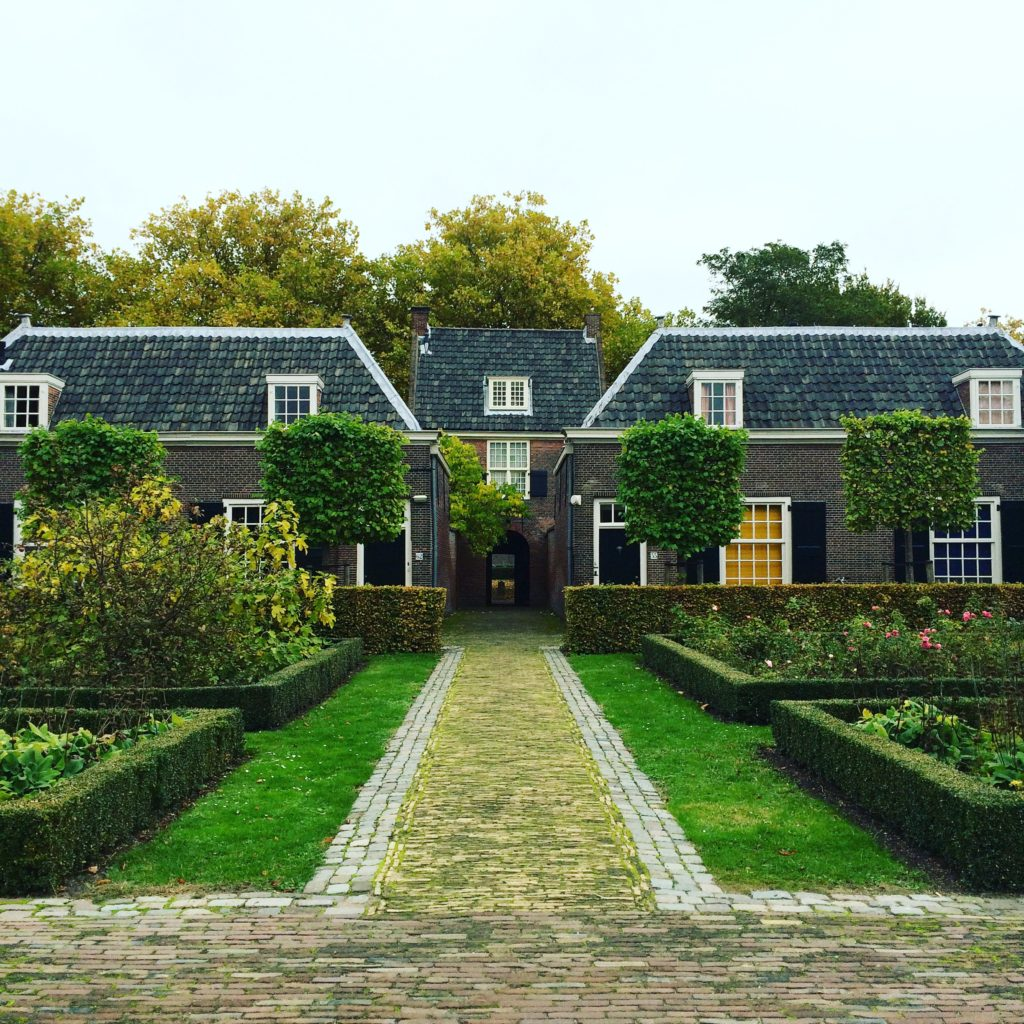 Delft the Netherlands Hofje van Pauw