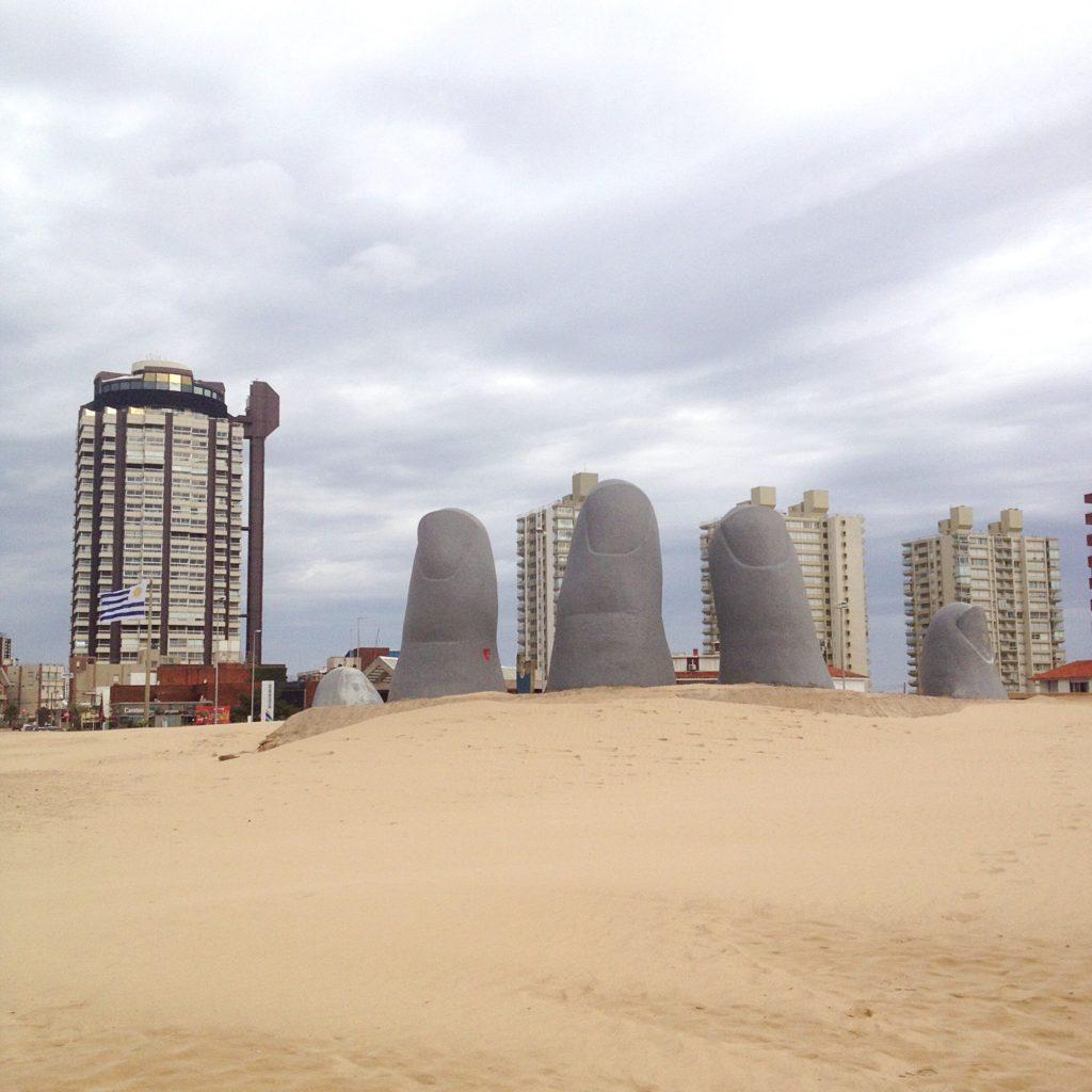 Punta del Este Uruguay beach monument los dedos