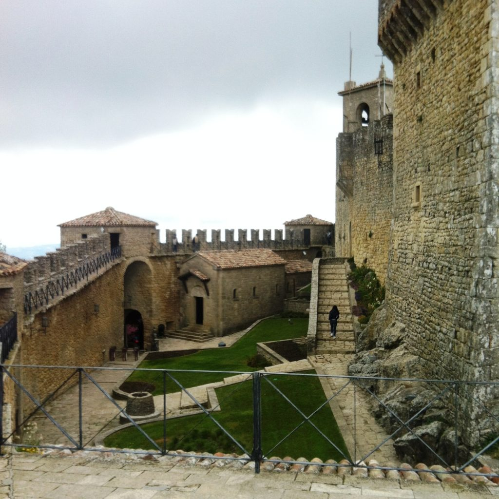San Marino City fortress Mount Titano