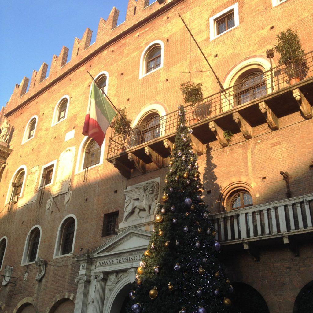 Christmas time Verona Italy Piazza dei Signori