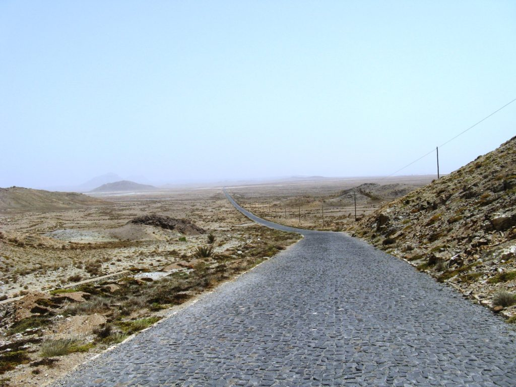 road Boa Vista island Cape Verde