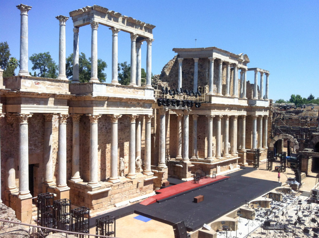 Merida Roman teatre ruins Spain