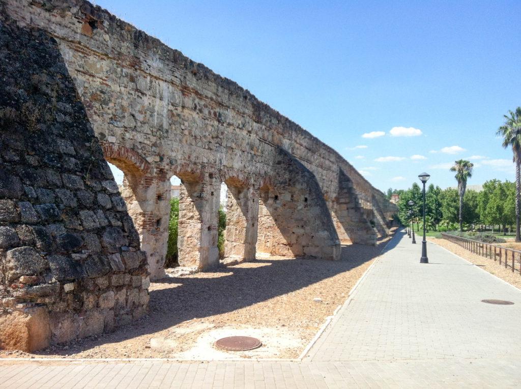 aqueduct Acueducto de los Milagors Merida Spain