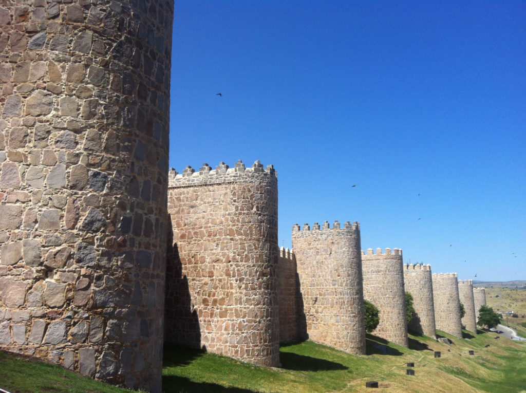 Avila city walls view Spain