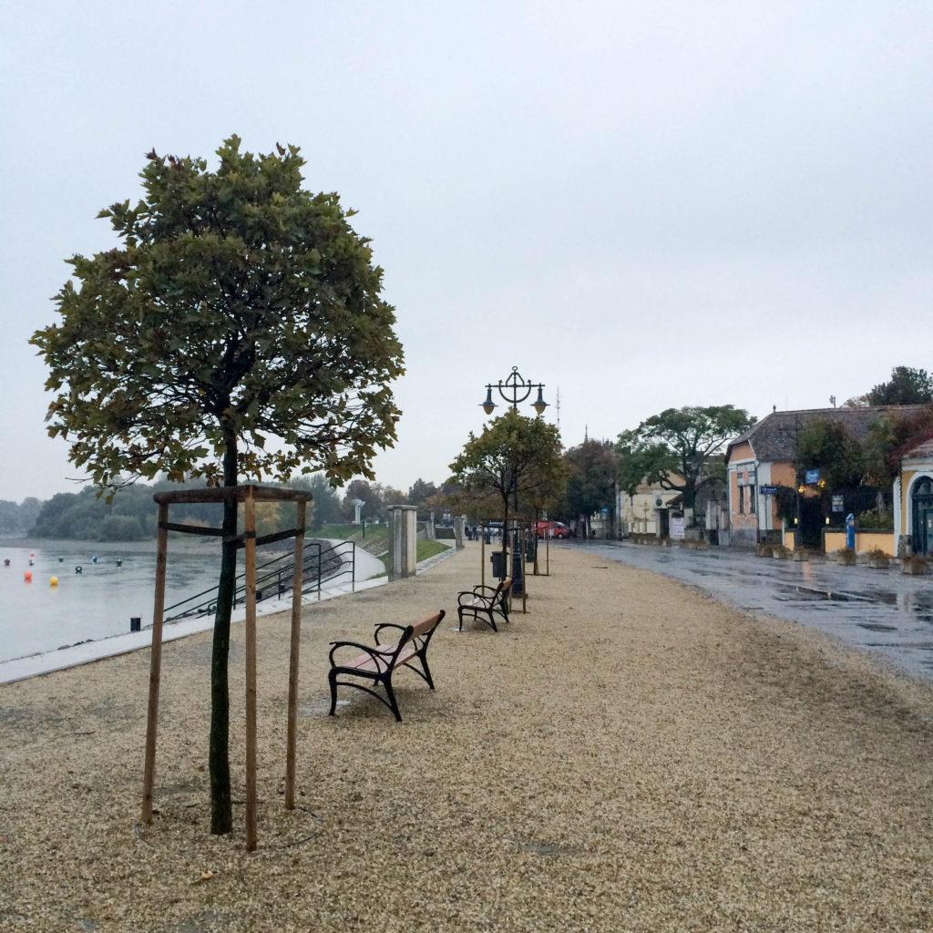 Danube promenade Duna Korzo Szentendre Hungary