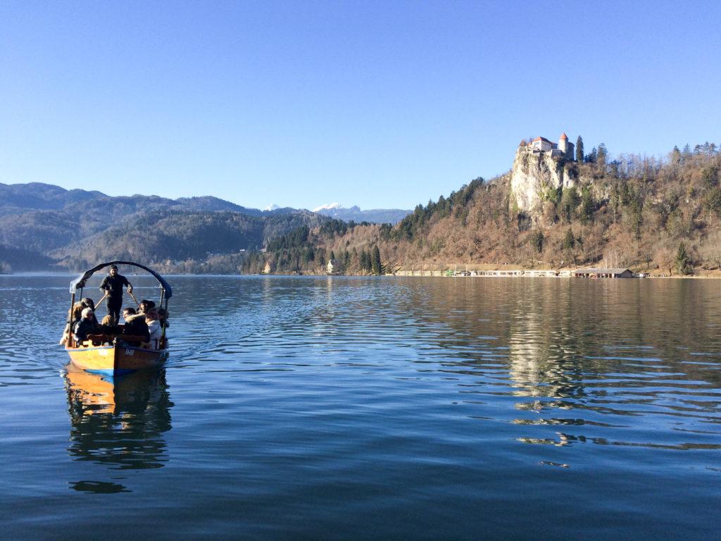 lake Bled Slovenia Bled Castle pletnja boat