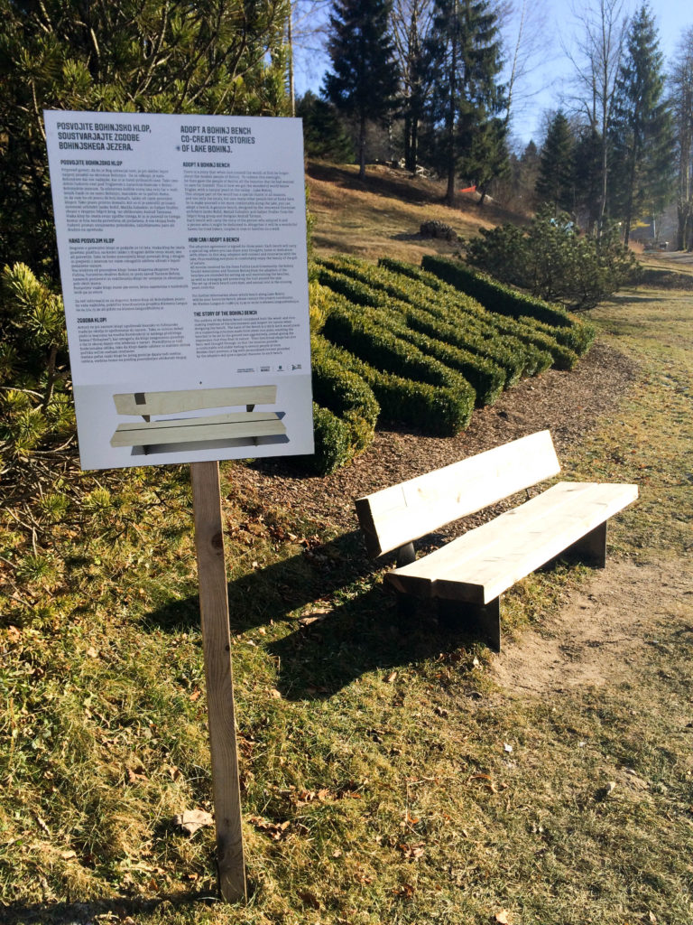 Bohinj Slovenia Triglav national park Ribicev laz adopt a bench