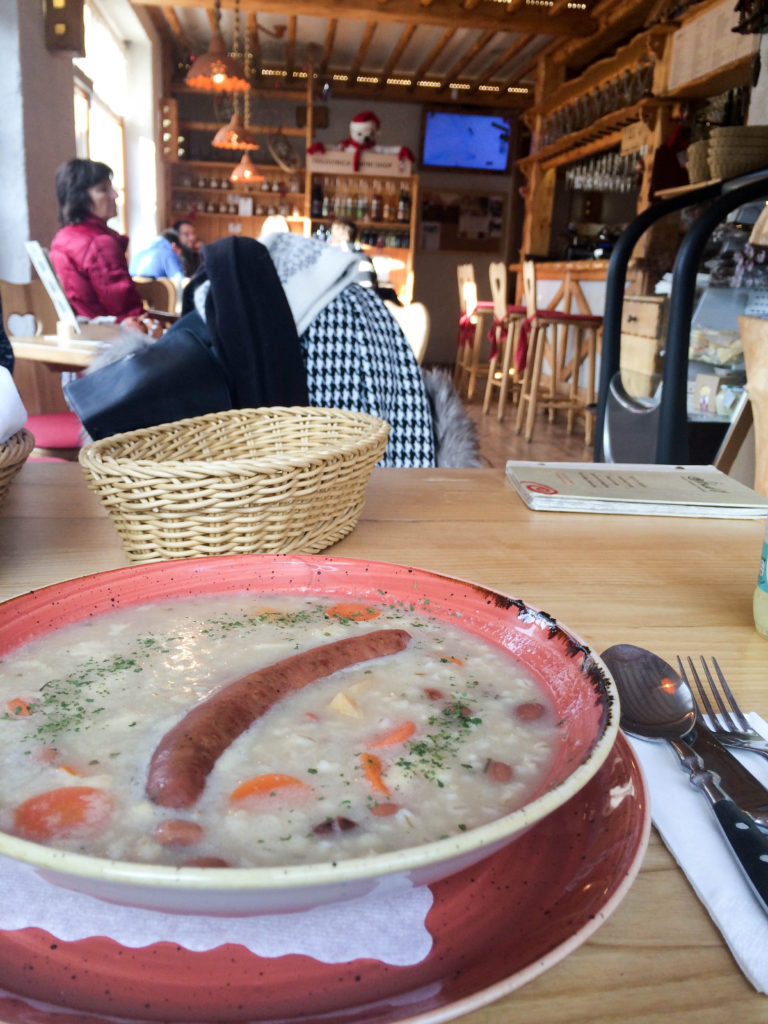 traditional food jota Slovenia lunch meal Bohinjska Bistrica