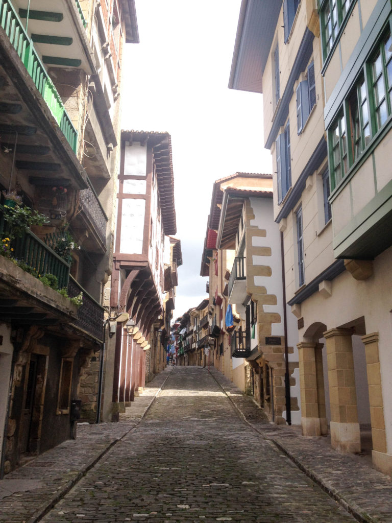 Hondarribia old town Spain