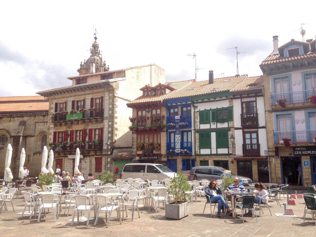 Hondarribia old town Plaza de Armas Spain
