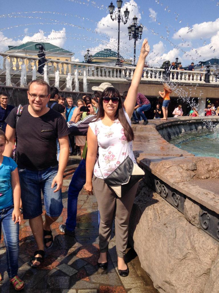 Manezhnaya Square fountain Vanja Vodenik Moscow Russia
