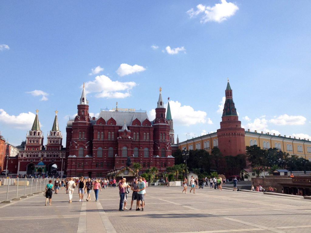Red square entrance Moscow Kremlin Russia