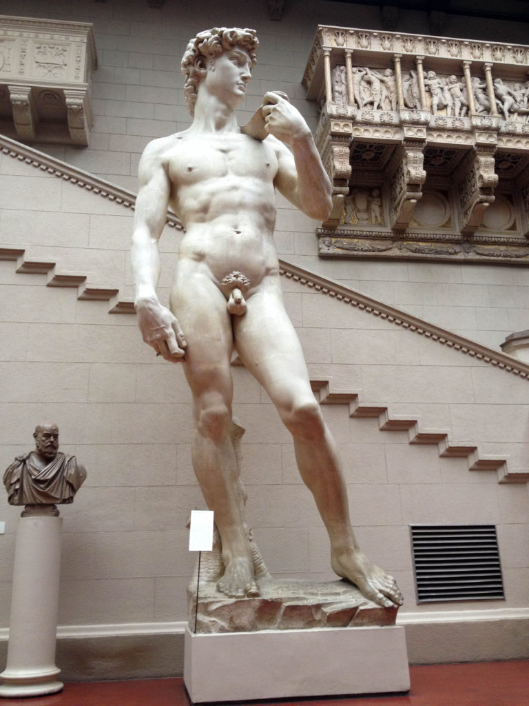 Pushkin State Museum of Fine Arts Moscow Russia David statue Michelangelo