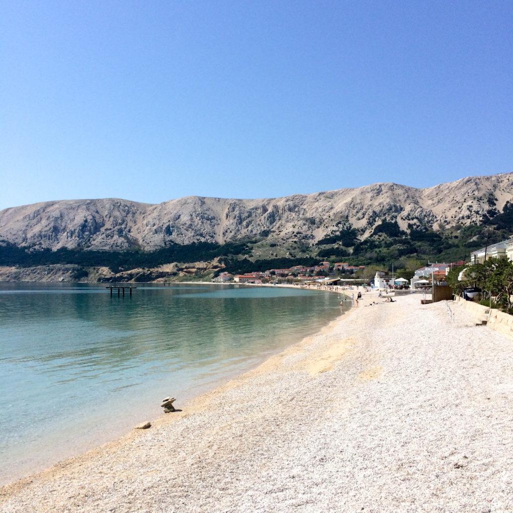 Baška island Krk Croatia beach