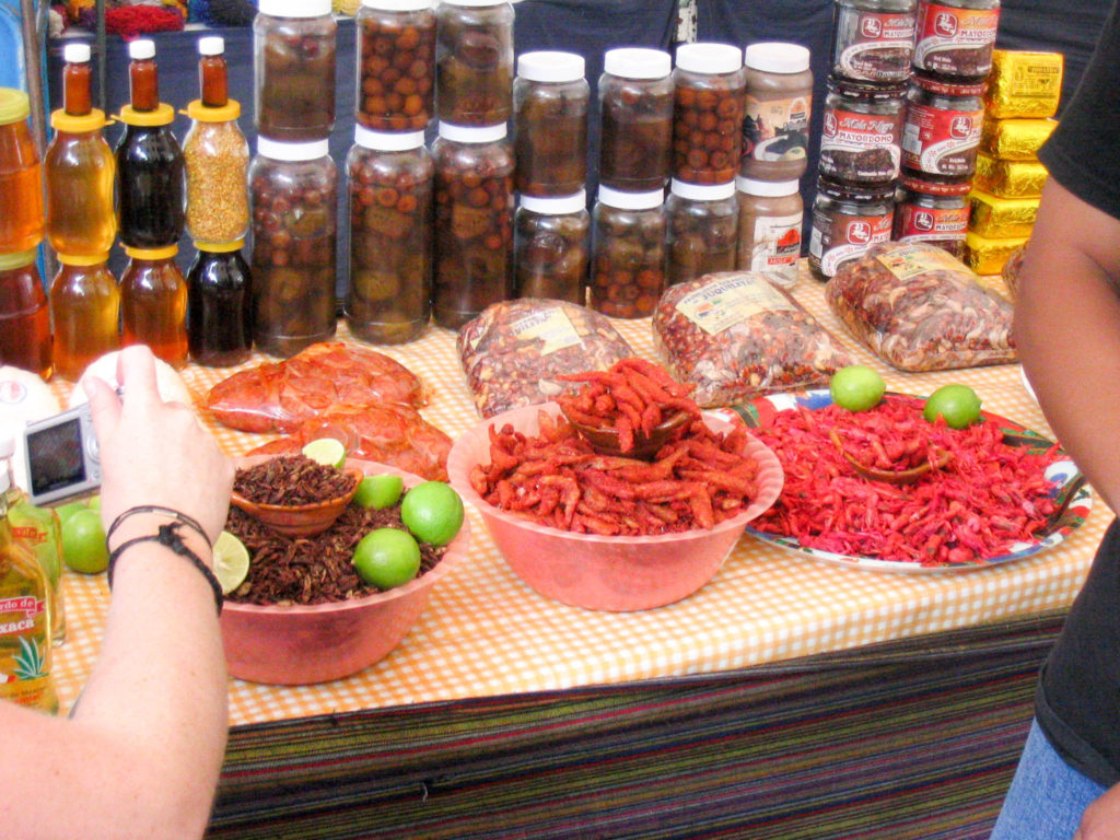 Mexico City Mexican food dried grasshoppers