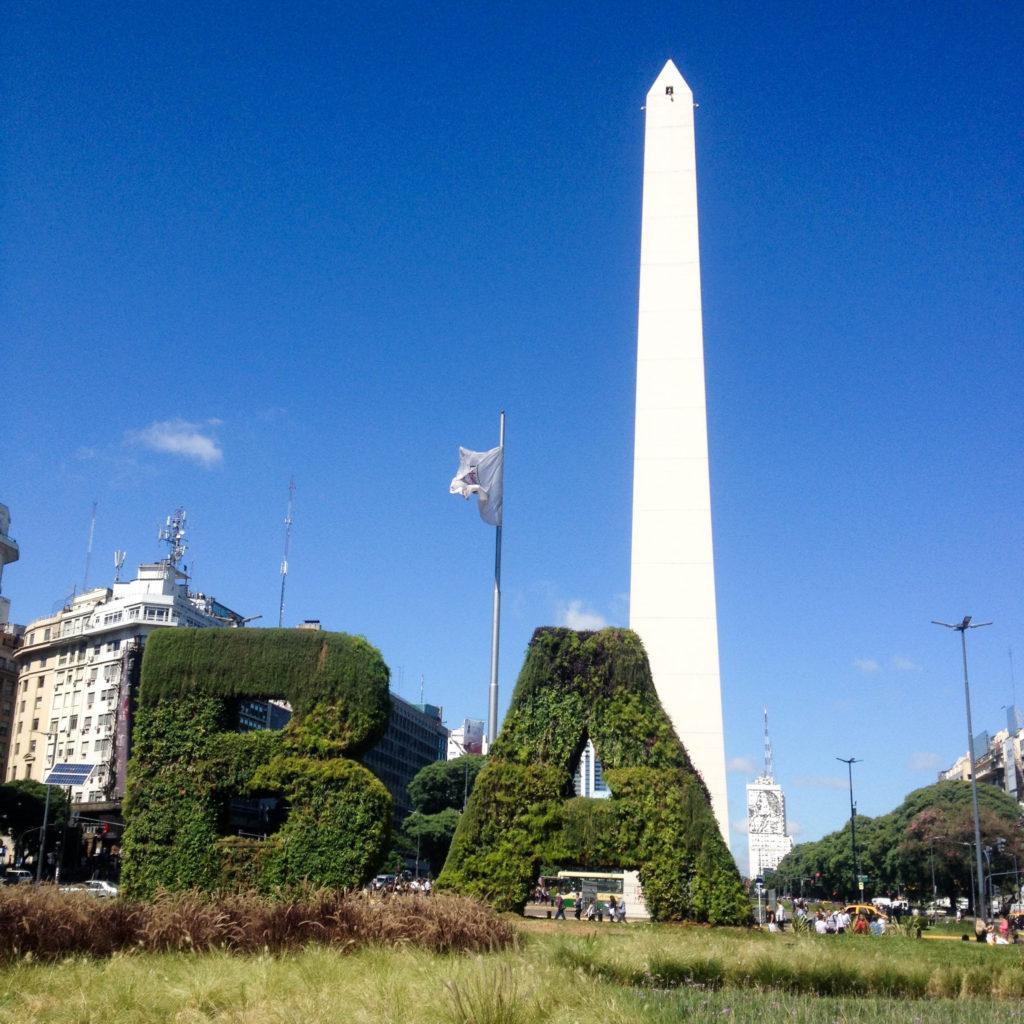 Buenos Aires sign Argentina obelisk