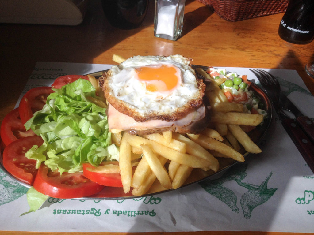 Colonia del Sacramento Uruguay chivito traditional food sandwich