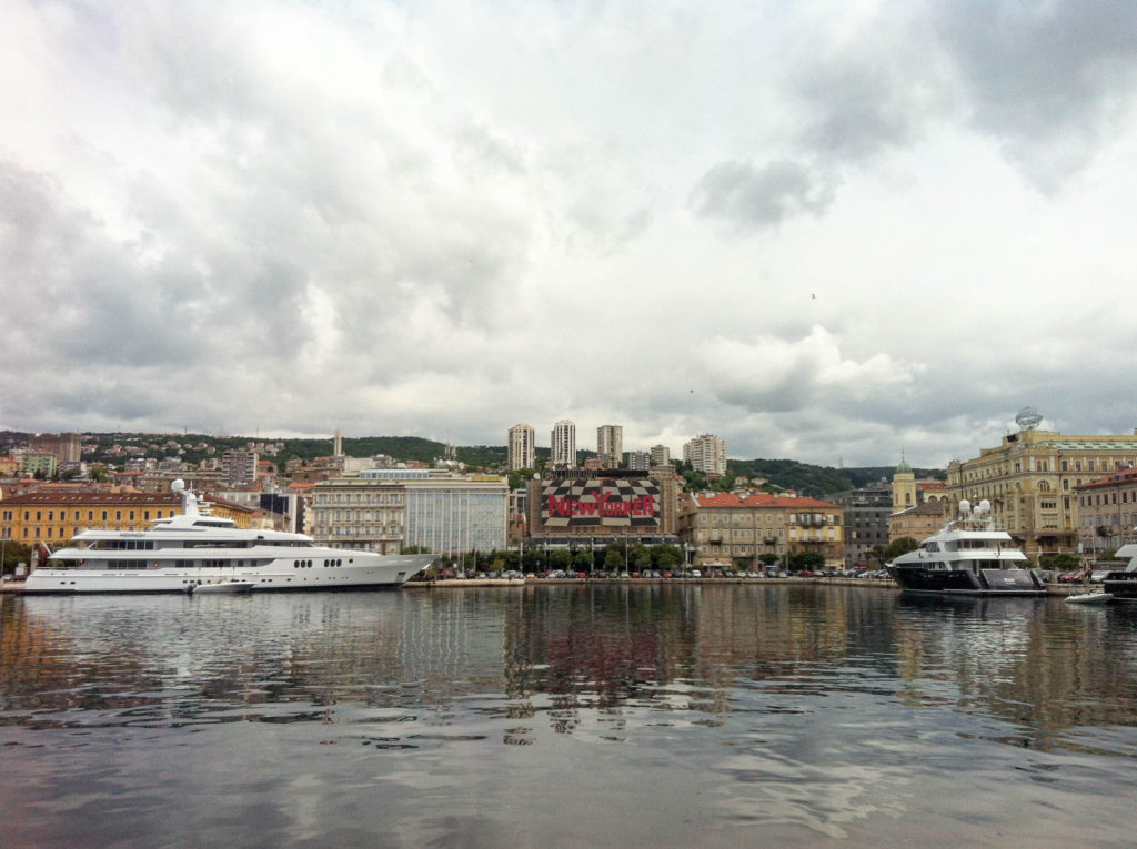 Rijeka waterfront harbour Croatia