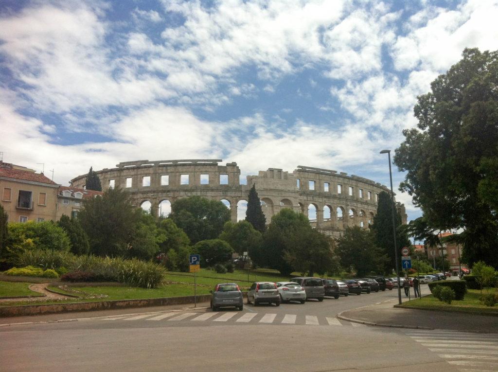 Pula Arena Istria Croatia Roman Coliseum view