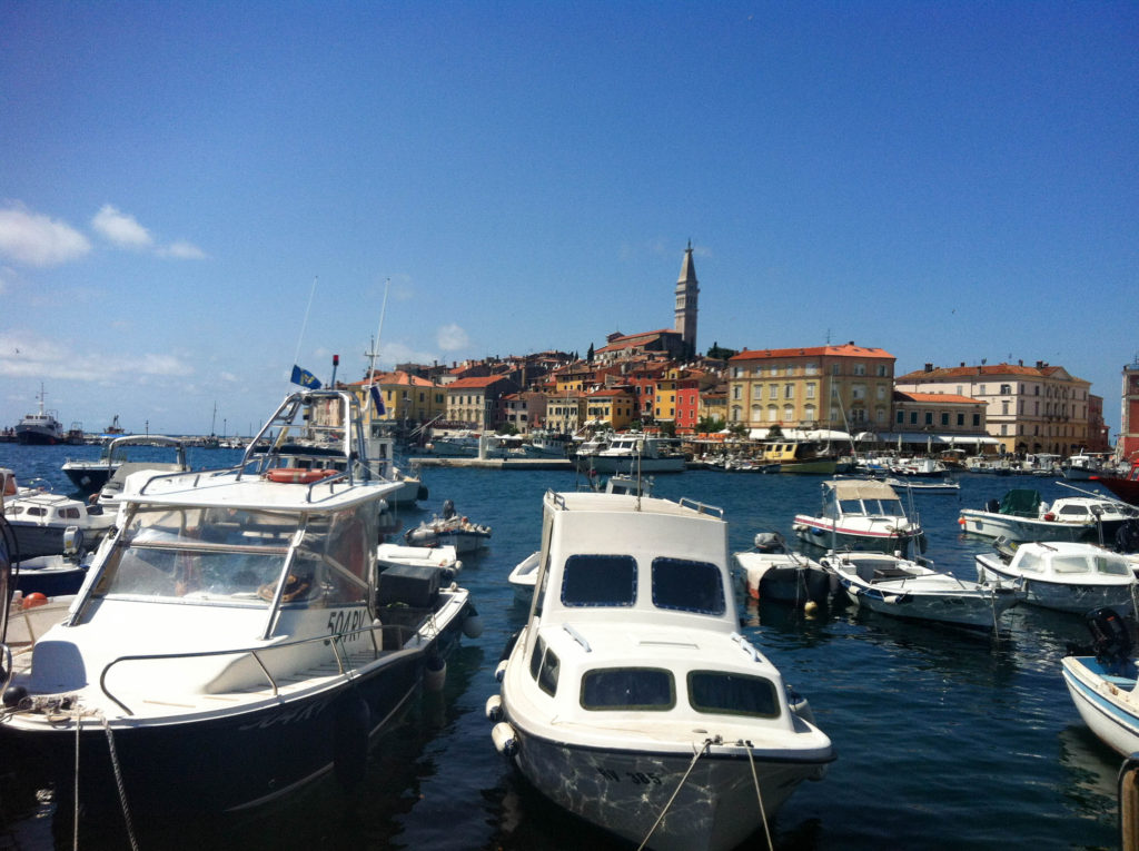 Rovinj Istria Croatia peninsula view