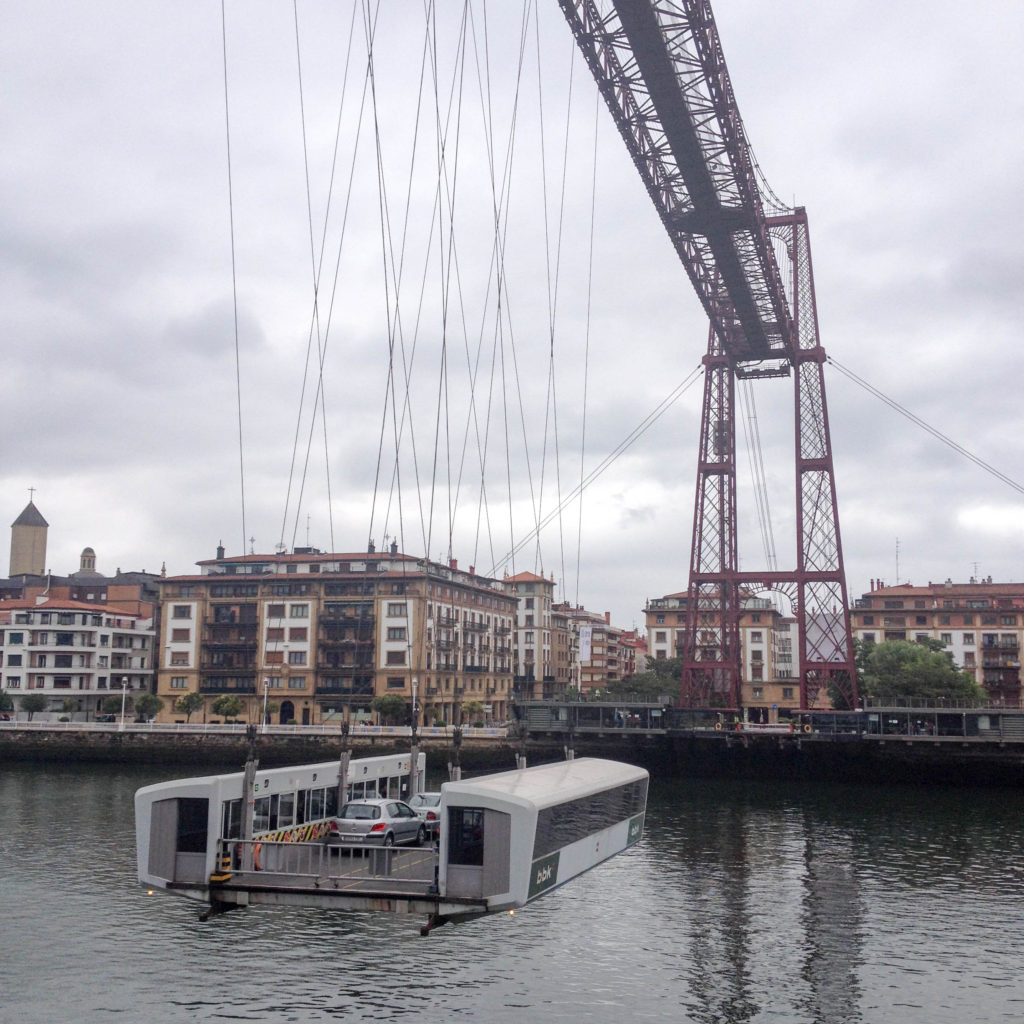 Puente Vizcaya bridge Spain Basque country Nervion river