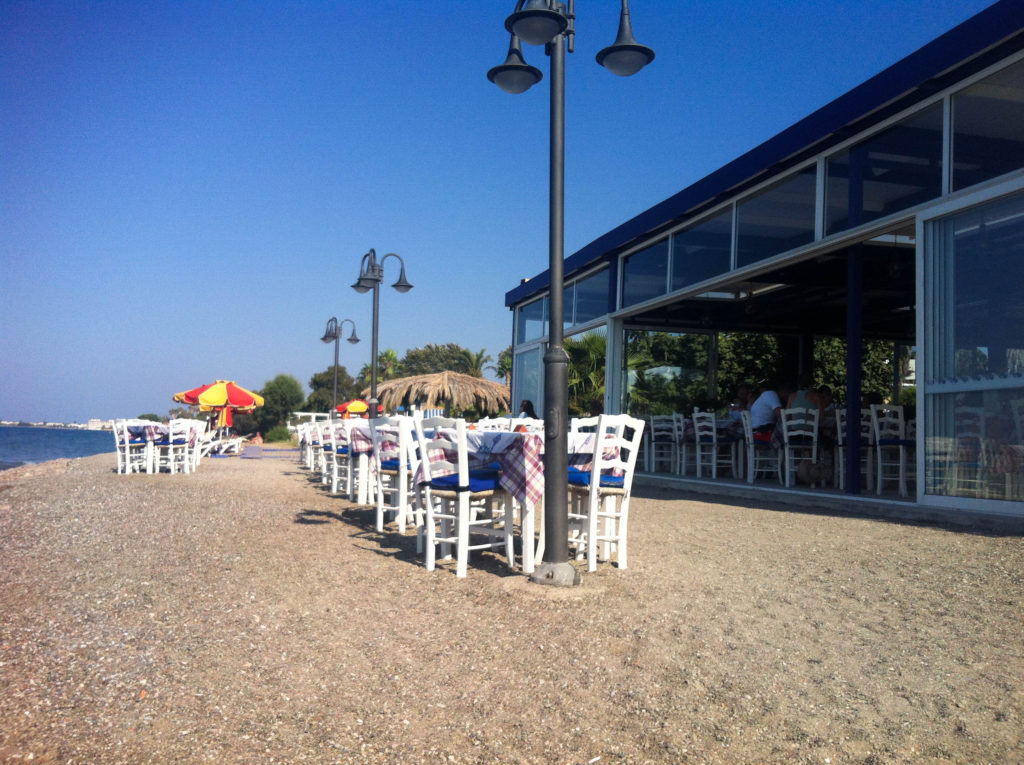beach Kos city island Greece Greek taverna