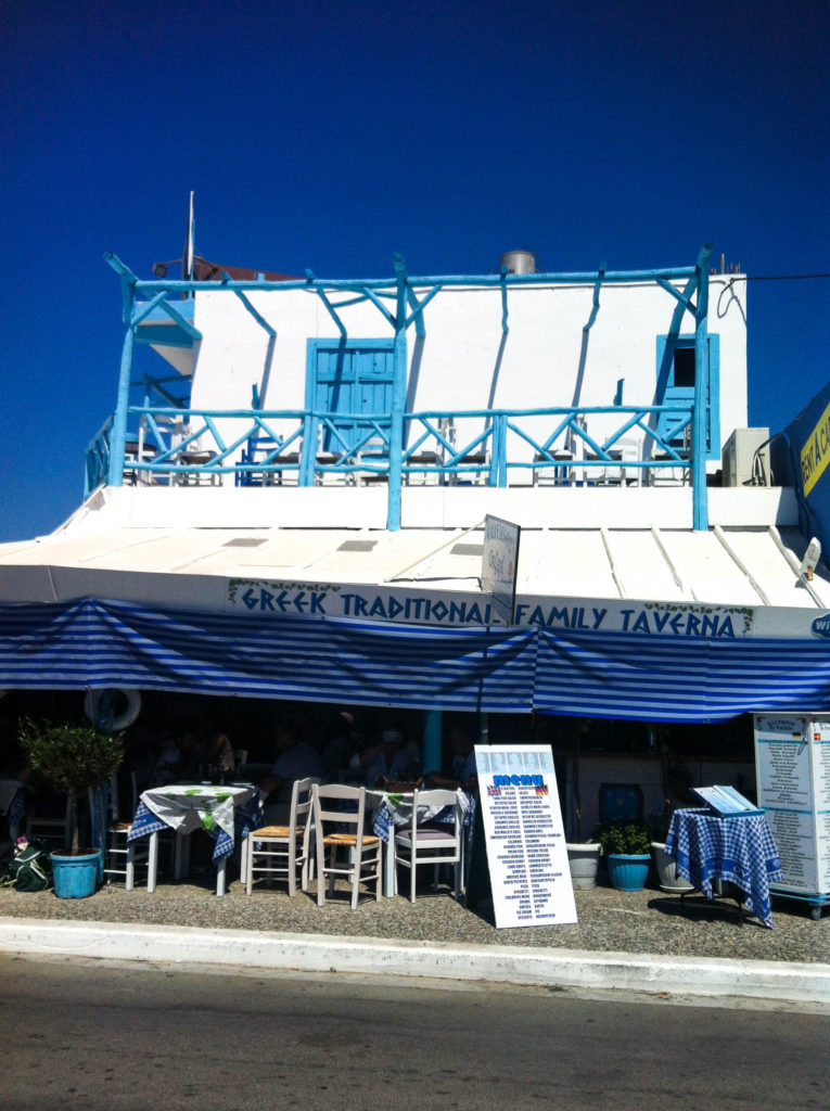 Greek taverna Mastichari island Kos Greece