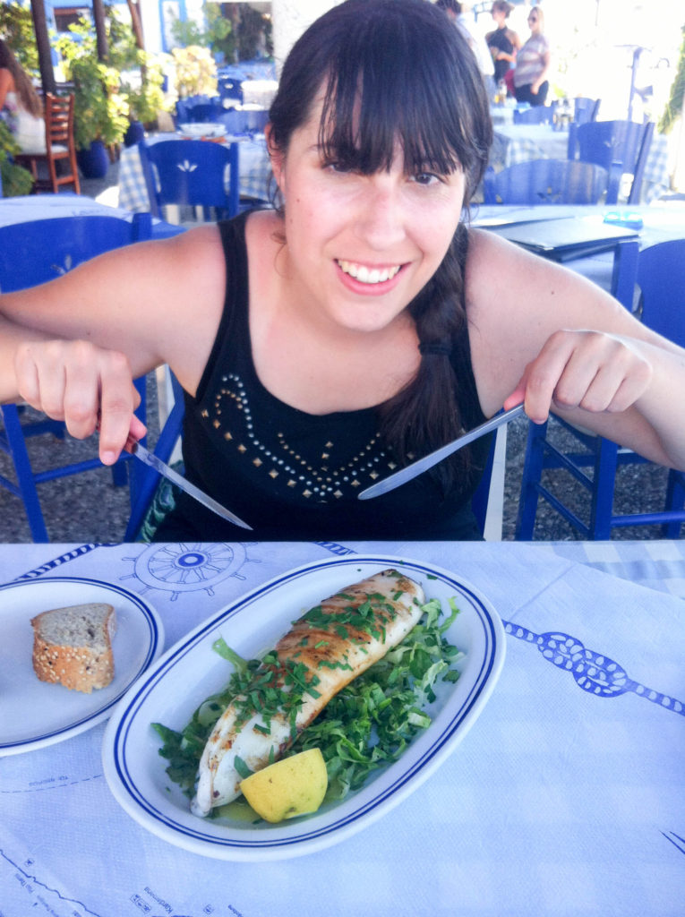 Greek taverna Mastichari island Kos Greece squid seafood Vanja Vodenik