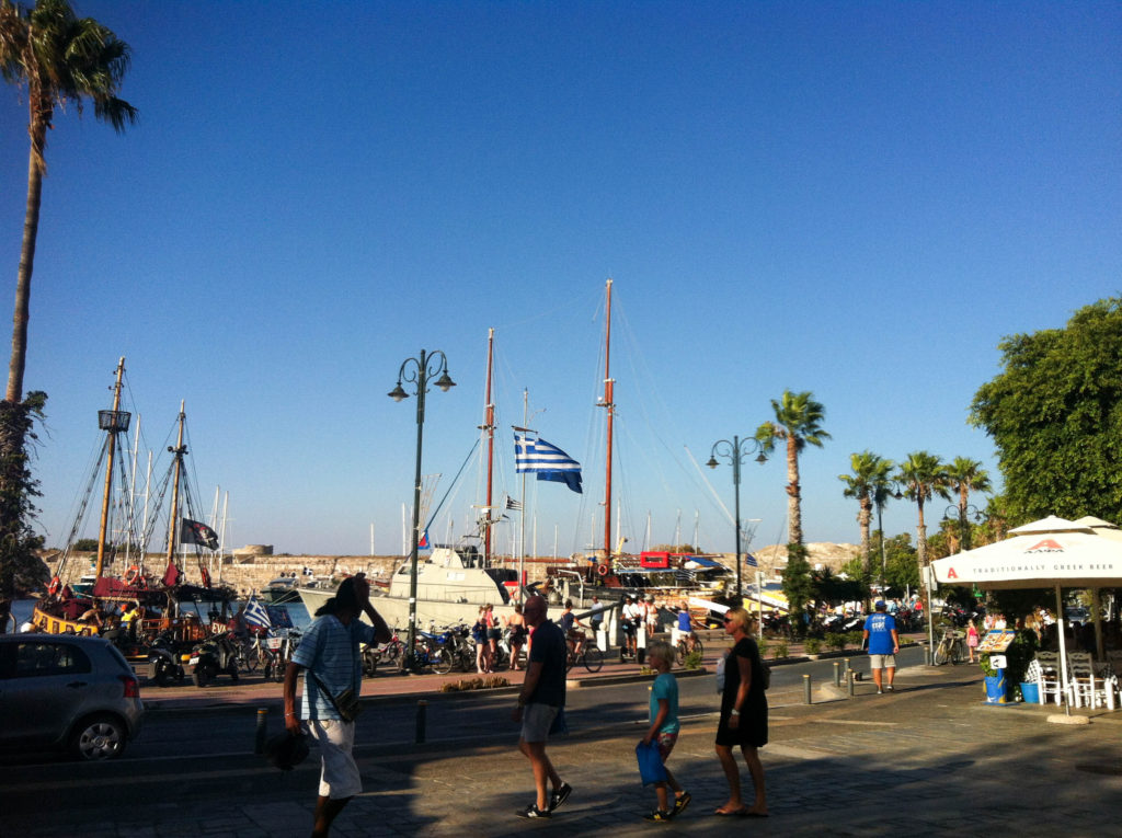 Kos city Greece island port