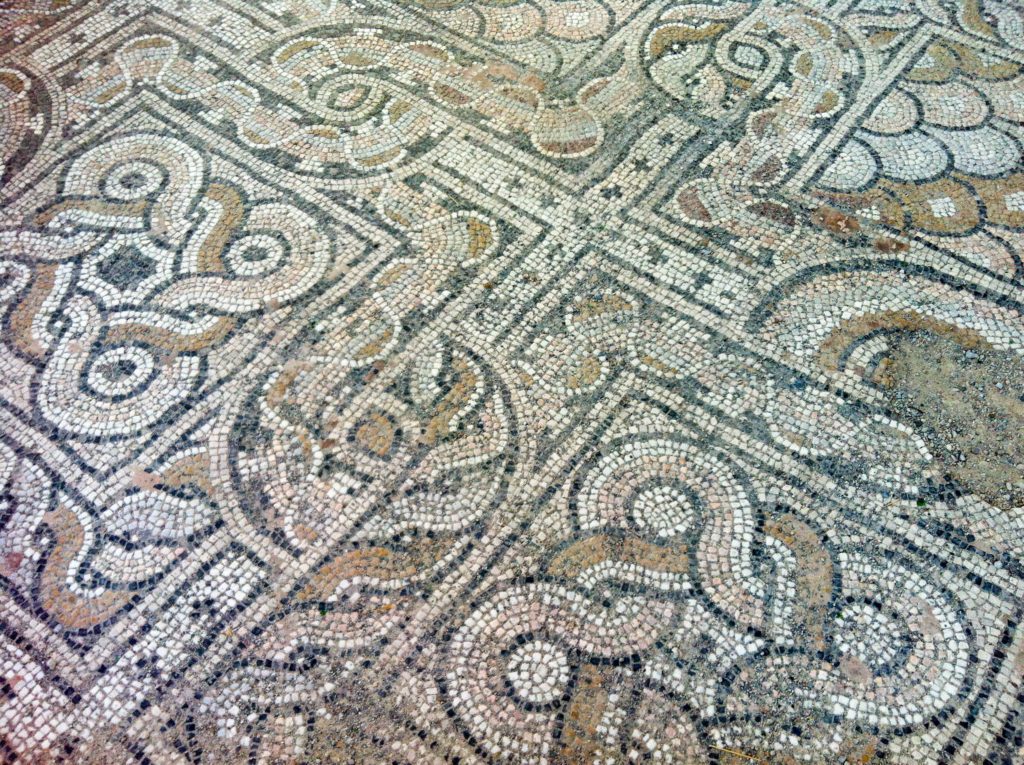Kos city Greece island Roman mosaic
