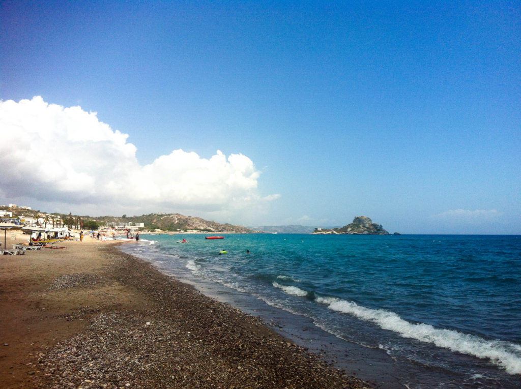 Kos Greece island beach Kefalos Bay of Kamari Mediterranen Sea