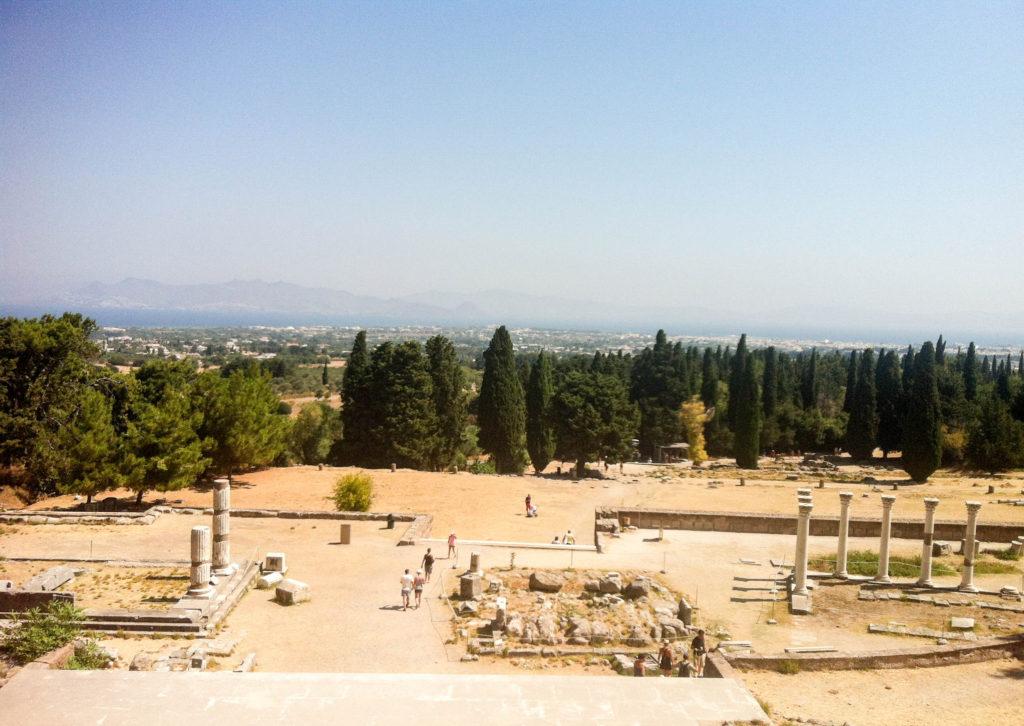 Kos city Greece island Roman ruins Asklepieion