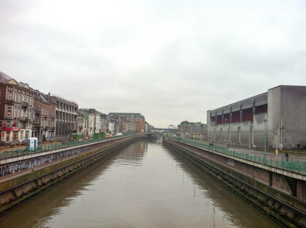 Charleroi Belgium river Sambre canals