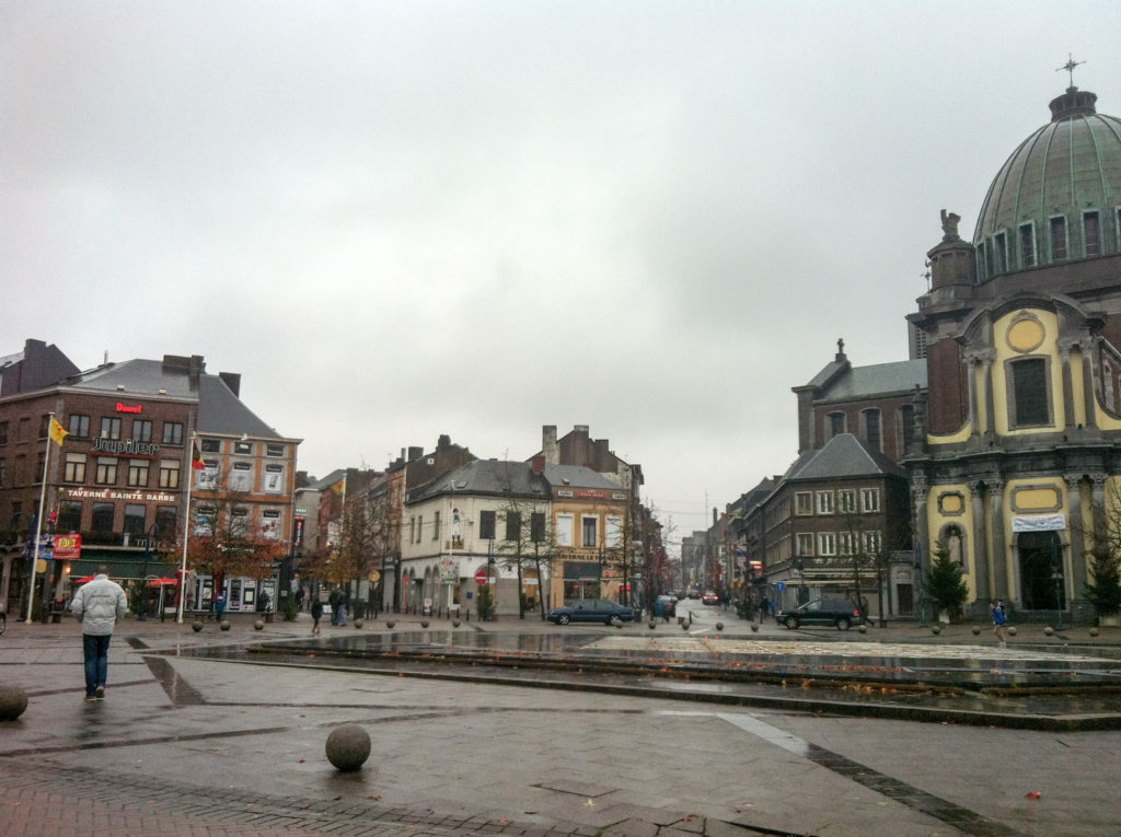 Charleroi Belgium Place Charles II Church of St. Christopher main square