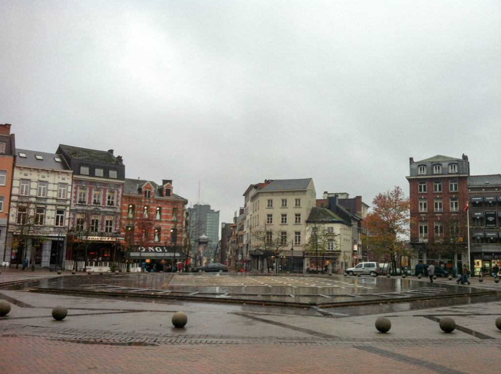 main city square Place Charles II Charleroi Belgium