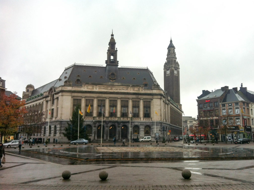 city hall Hotel de Ville Charleroi Belgium Belfry tower UNESCO world heritage site
