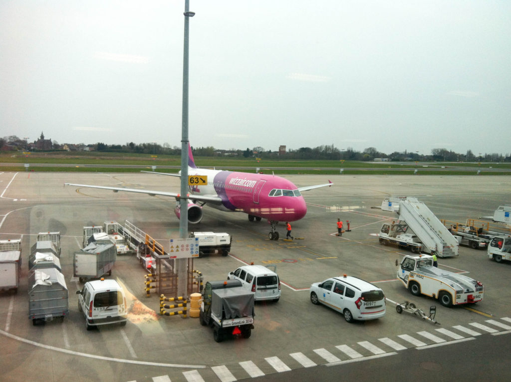 Brussels South Charleroi Airport Belgium Wizz Air airplane