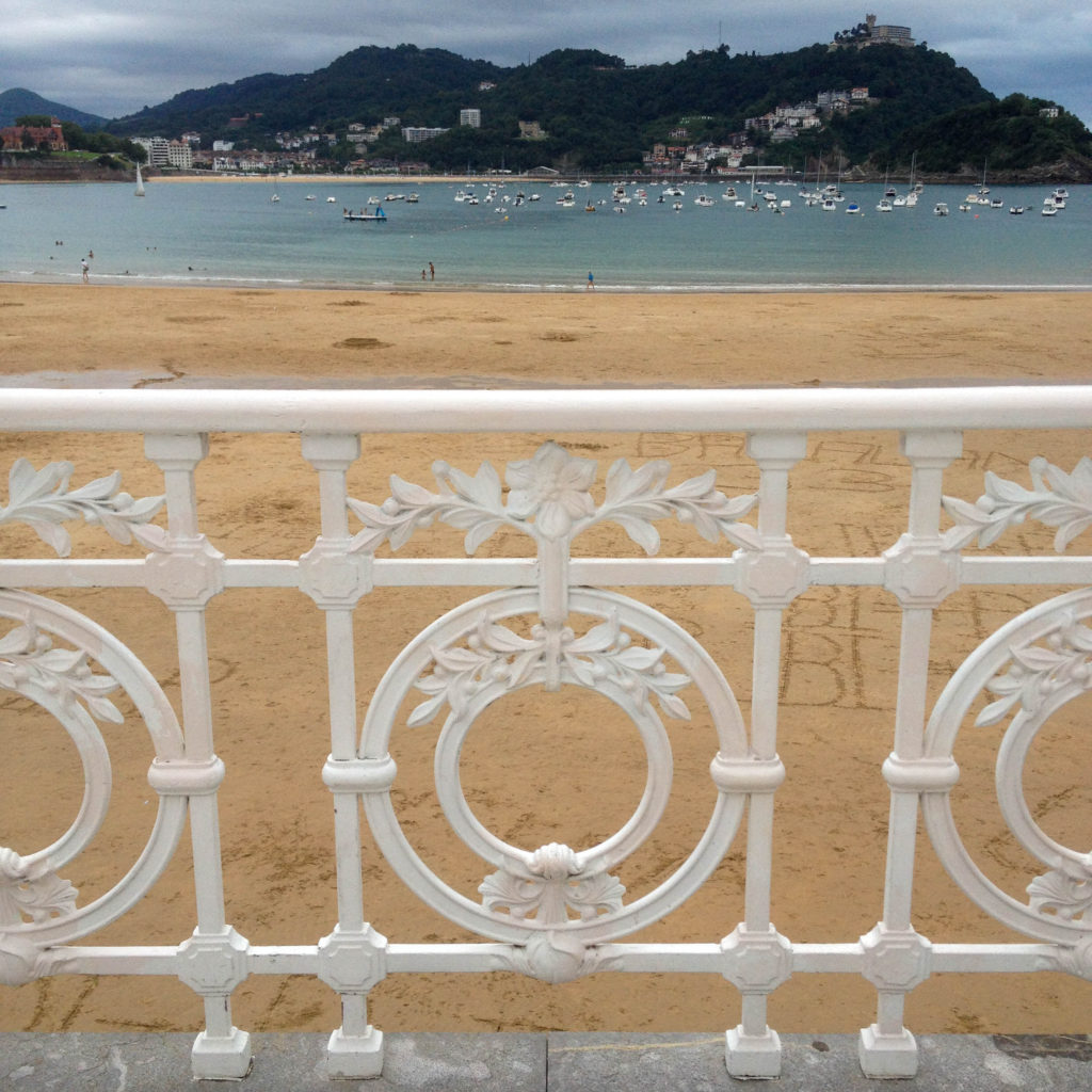 San Sebastian Donostia Basque country Spain beach