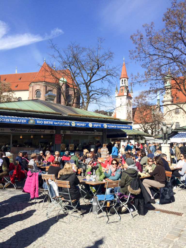 food market Viktualienmarkt Munich Bavaria Germany